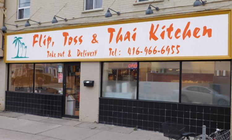 Flip, Toss, Thai Restaurant storefront