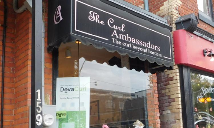 picture of the Curl Ambassadors storefront