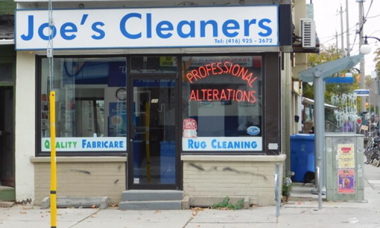 Picture of Joe's Cleaners storefront